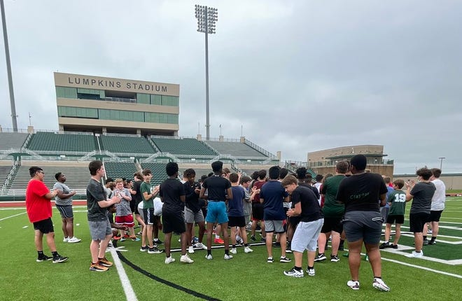 Waxahachie High School is conducting strength and conditioning workouts throughout June at Lumpkins Stadium. Waxahachie ISD has several summer sports camps scheduled throughout the month.