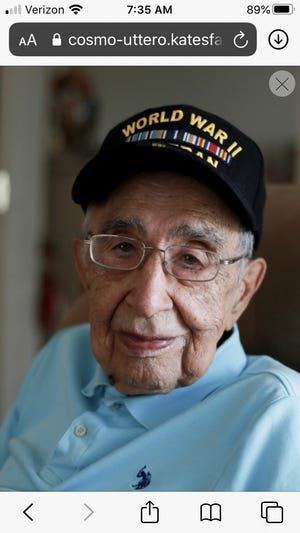 Cosmo Uttero was about 17 when he left Wellesley High School to fight in World War II. He became a member of the 175th Regiment, 29th Division, Private First Class and was  among those who landed on Omaha Beach on June 6, 1944 in the face of enemy fire.