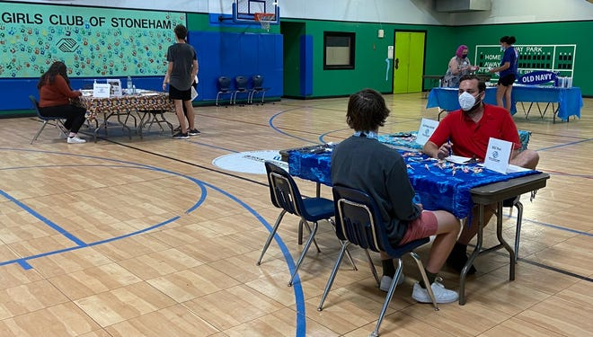 The Boys and Girls Clubs of Stoneham and Wakefield recently hosted a job fair including representatives from Old Navy and Stop & Shop. Over 50 teenagers and young adults attended and interviewed for jobs.