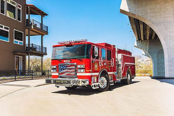 The first Pierce Volterra zero-emissions pumper has been placed in service with the City of Madison Fire Department, making it the first electric fire truck in service in North America. Photo provided by Pierce Manufacturing