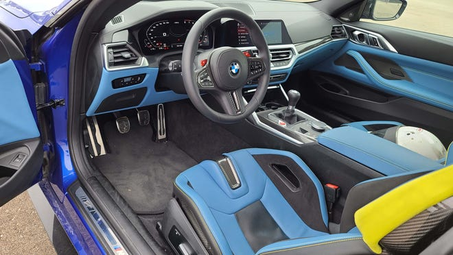Good seats, Intuitive controls. The 2021 BMW M4 has one of the best cockpits in autodom.