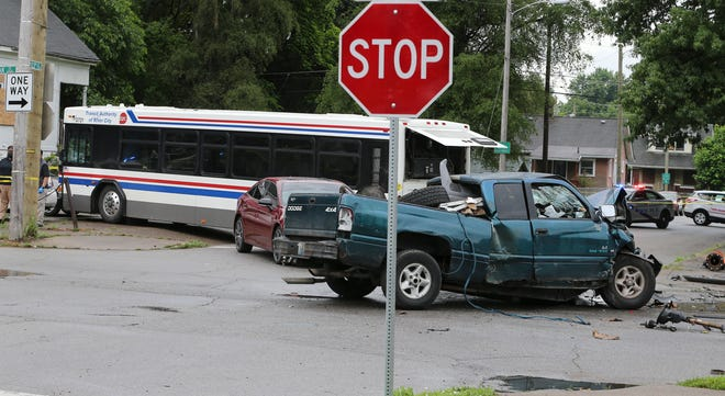Injuries were reported in a multi-vehicle accident involving a TARC bus at the corner of Oak and 23rd Street on Tuesday, June 8, 2021