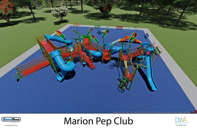 A 3-D rendering of what the new playground area would look like inside McKinley Park where Project Playground currently resides. At the end of June, Project Playground is set to be demolished and replaced with a more accessible and inclusive playground set.