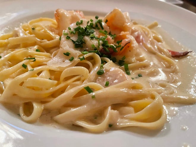 The seafood pasta from Marek's Bar & Bistro, Marco Island.