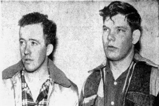 로버트 폴 그늘이 좋으 셨겠죠 (왼쪽)과 존 헨리 브라운 (오른쪽)은 한국의 전장에서 재회하기 전에 헤브론 동급생이었습니다.