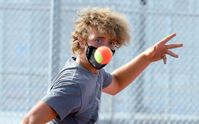 Wildcat Sebastian Lescombes is focused on tennis this week. The 15-year-old freshman will represent Deming High School in Thursday's first round of the Class 5A State Tournament for individuals in Albuquerque. Lescombes plays at 11 a.m. against top-seeded Georgio Semaha of Albuquerque-Eldorado High School.