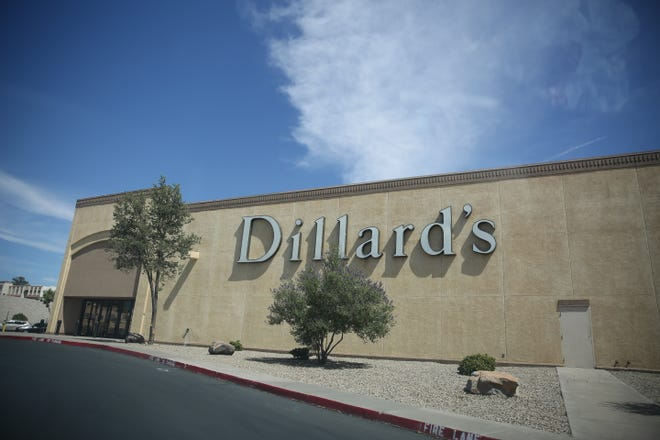The Dillard's east side entrance at the Mesilla Valley Mall.