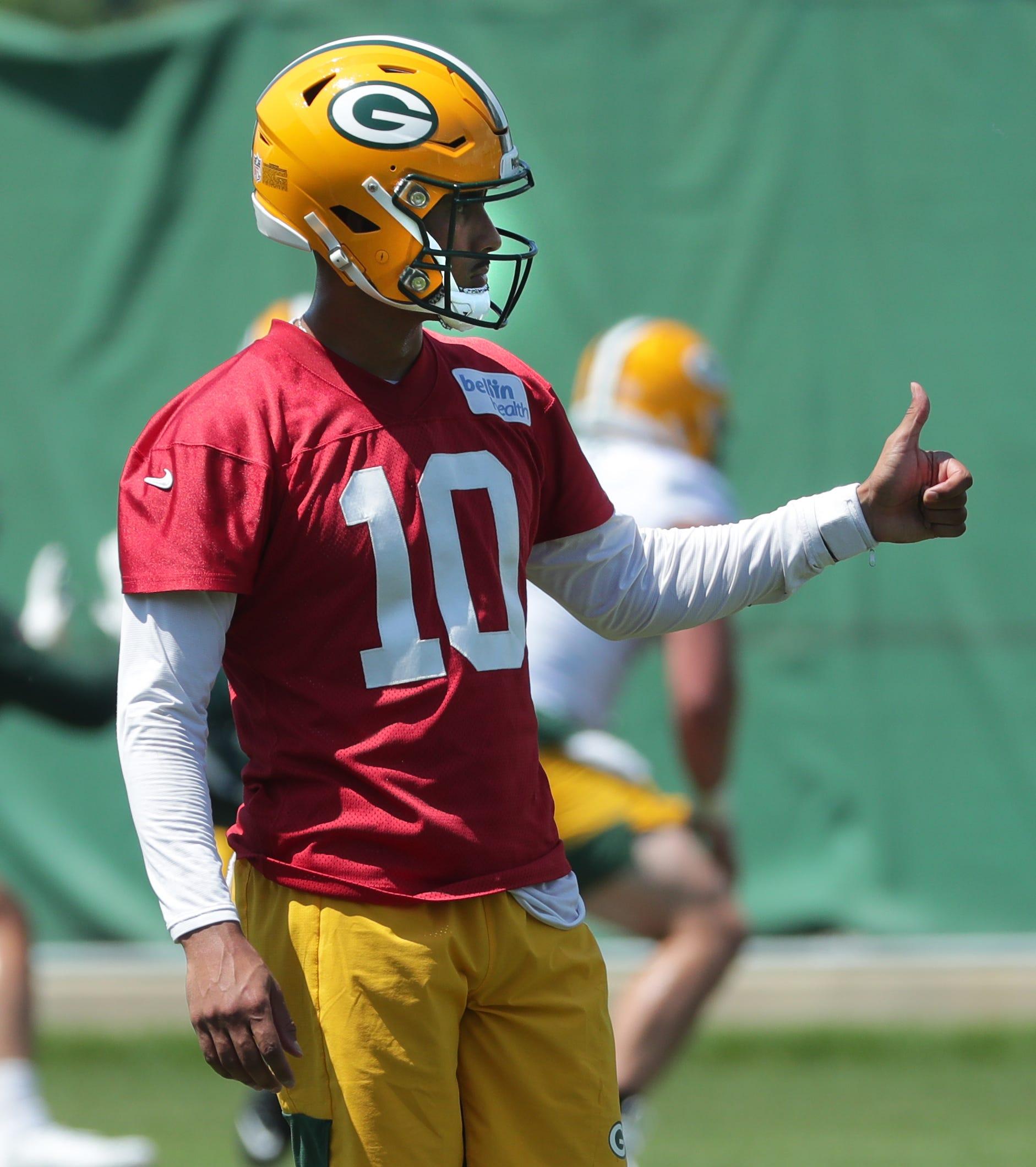 Aaron Rodgers' absence, Jordan Love's struggles overshadow Green Bay Packers minicamp