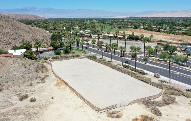 Local auto dealer Dan Jessup has plans for new Volvo and Infiniti dealerships on this land in Rancho Mirage, seen June 8.