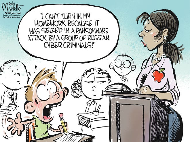 Marlette cartoon: Ransomware strikes again!