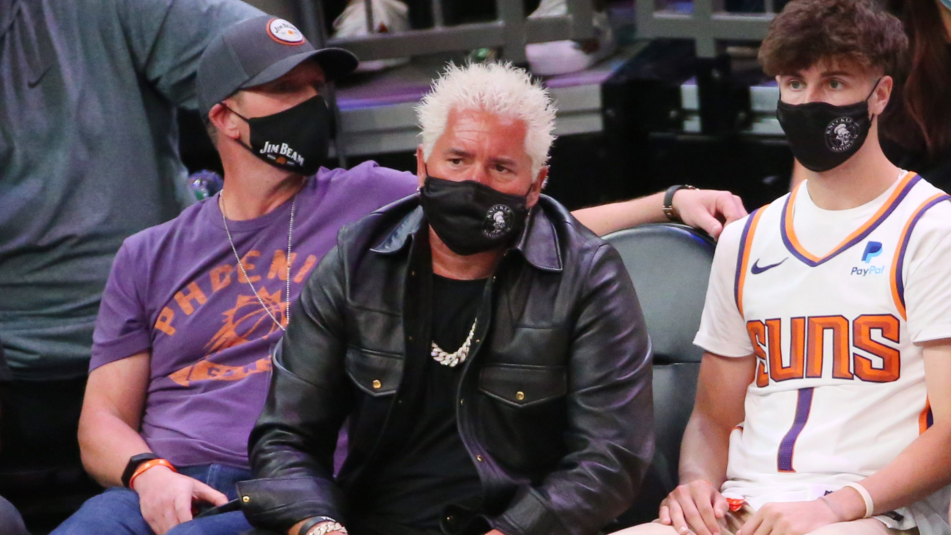Guy Fieri sits courtside at the Suns-Nuggets game, proving that Phoenix is Flavortown