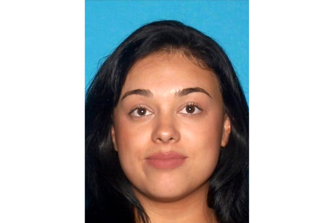 This undated photo provided by the Las Vegas Metropolitan Police Department shows Samantha Moreno Rodriguez. Rodriguez is now sought on a murder warrant in Las Vegas and is suspected in killing her 7-year old son Liam Husted whose body was found near a highway outside Las Vegas 10 days ago. (Las Vegas Metropolitan Police Department via AP)
