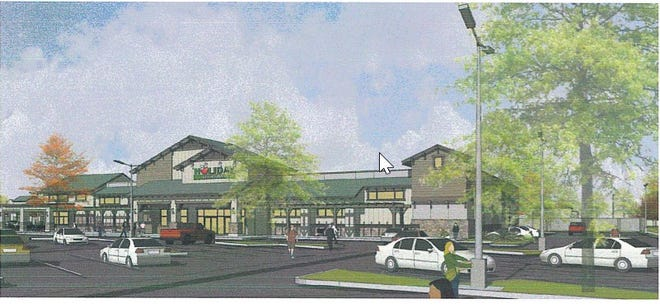 Holiday Market would anchor the shopping center at Shasta View Drive and Hartnell Avenue in east Redding.