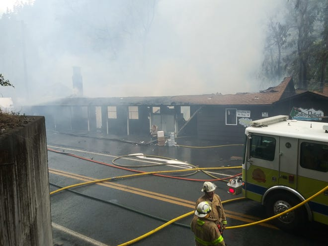 Galice Resort, a historic landmark and beloved river outpost in southern Oregon along the Rogue River, burned down in a structure fire on Tuesday.