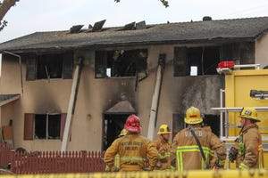 One person died in a house fire Monday in Simi Valley.