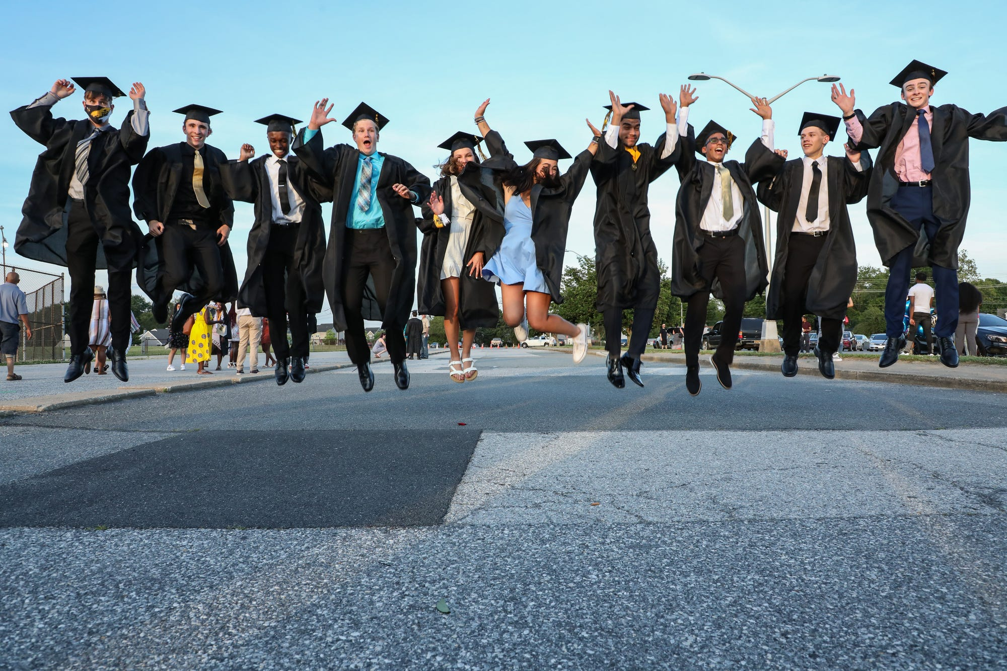 Delaware high school students celebrate graduation in style as restrictions are lifted