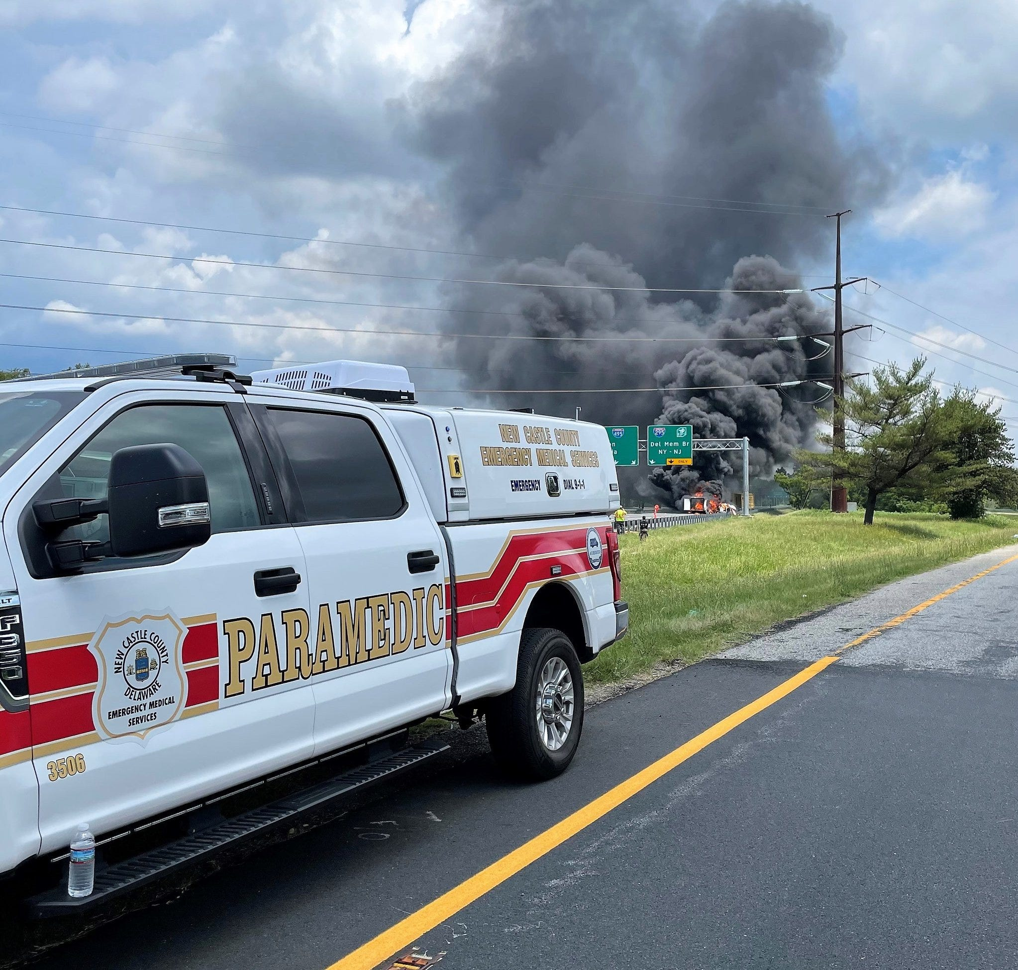 I-95 reopened where crash and peroxide burn occurred Tuesday