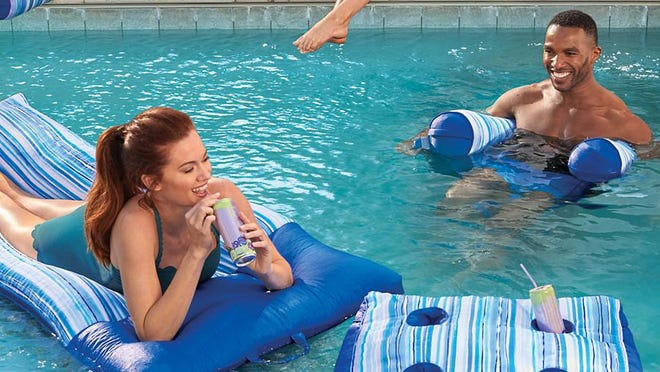 Get summer started early with Frontgate's pool seat now on sale.