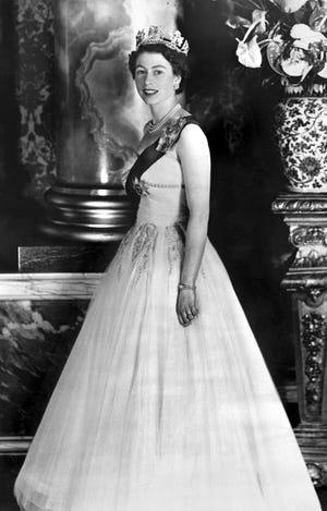 An official portrait of Queen Elizabeth II taken in 1953, the year she was crowned.