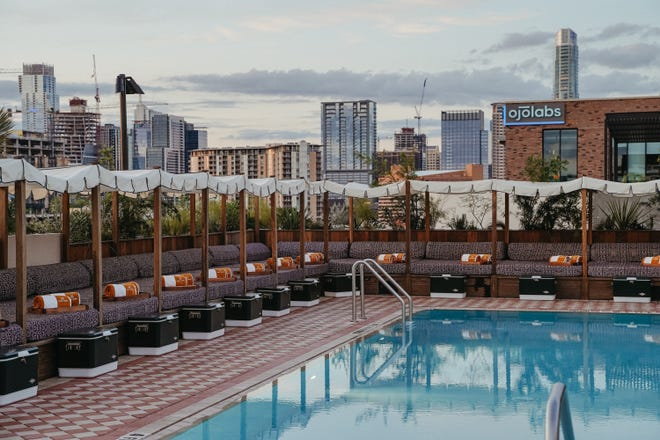 Soho House Austin, which is now open on South Congress Avenue, includes a rooftop pool among its amenities.