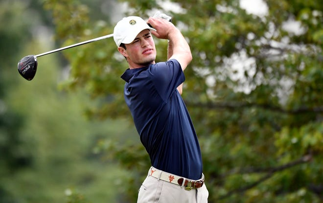 Cole Hammer plays his shot from the second tee during the first round of the 2020 U.S. Open golf tournament. The former Texas star qualified for this year's tournament Wednesday.