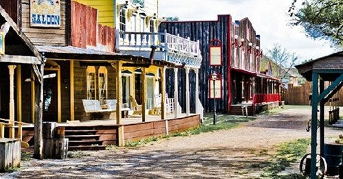 """The collection of historic homes known as """"Dry Bones"""" at Storybook Ranch may soon be coming to Mantua."""
