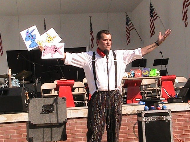 Magician Gordon Russ performs at the Band Shell. Russ will return to the Guy C. Myers Memorial Band Shell on Sunday to kick off Ashland's 2021 Summer Concert Series.