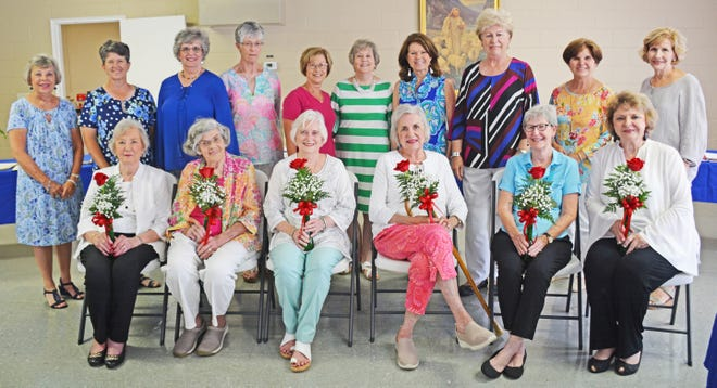 The six charter members of the Wildwood Garden Club are (front row, left to right): Mary Catherine Lindler, Etta Mixon, Ernestine Gillam, Ann Loadholt, Yvette Sanders, and Bett Benson. Original members Sally Smith and Jacquie Anthony are not pictured. Second row (left to right): Terry Ann Anderson, Suzanne Lott, Jane McMaster, Sue Clark, Emily Williams, Ernestine Sanders, Scottie Moore, Jane Hunter, Terri Winningham, and Elaine Lawrence.