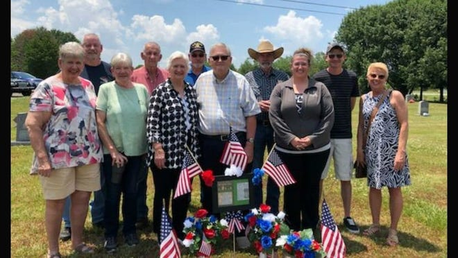 Phil and Peggy Stanley, center, with members of the Morrison family in Shelby, NC