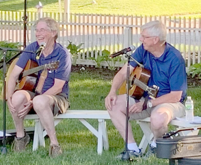 Bob and Mike Conway kicked off the Friends of Historic Boonville Sundown Concert Series on Friday, June 4 at the Hain House Gardens in Boonville. The Sundown Concert Series will be held every Friday in June and is open to the public.