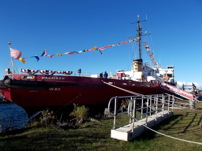 A ceremony for the new exhibit honoring women who became known as Rosie the Riveters, including those who helped build the Coast Guard Cutter Mackinaw that is now a museum, will be on board the ship at 11 a.m. on Saturday, June 19.