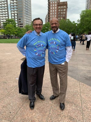 Reps Thomas West, D-Canton, And Scott Lipps, R-Franklin, on Child Mental Health Awareness Day. The bipartisan duo are now sponsoring a measure that would reduce pharmacy benefits' managers control over Ohio pharmacies.