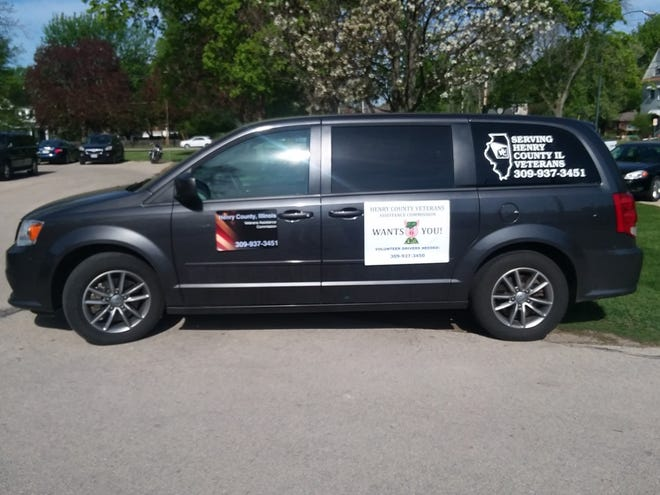 The Iowa City VA van is used by the Henry County Veterans Assistance commission to transport Henry County veterans to the Iowa City VA Hospital.