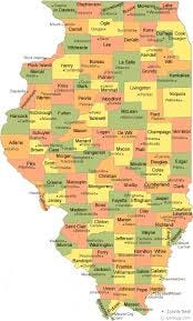 map of Illinois counties