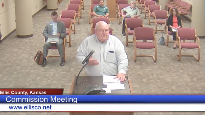 Walt Hill, executive director of the High Plains Mental Health Center, delivered comments on Monday as part of an annual report to the Ellis County Commission.