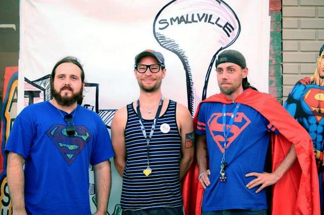 Christopher Wietrick, KC McNeely and Ben Eisiminger at Smallville Festival