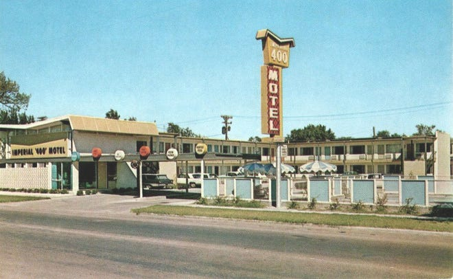The Imperial 400 Motel at 114 W. Fourth Ave. in 1963.