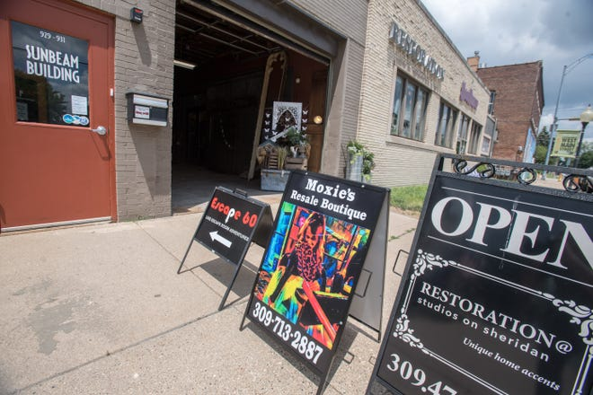Moxie's Resale Boutique joins an eclectic mix of businesses in the Studios on Sheridan in the Sunbeam Building, 923 N. Sheridan Rd. near Main Street in Peoria.