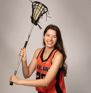 Lakeland's Isabel Norsworthy held down the middle for the Highlanders this year and earned the praise of her peers and area coaches by being named the Girls Lacrosse Player of the Year.
