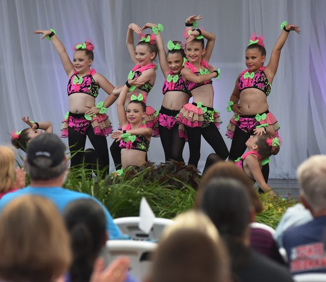 """The mini company dancers from Viva Dance Co. of Monroe posed as they finished their dance called """"Salsa."""" The dancers performed in four show recently at the Monroe County Fairgrounds."""
