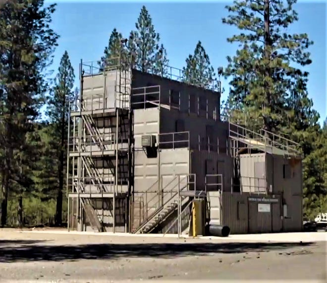 COS' existing fire tower is located on campus though it is owned by the City of Weed. The new tower, to be erected in a nearby clearing, will be owned by the college. In the fire tower, students wearing full gear experience the conditions of the job while practicing fire-fighting skills learned in the classroom.