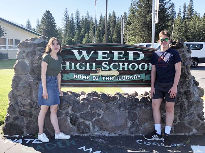 Weed High School salutatorian Grace Crawford and valedictorian Behr Marshall will both speak at their graduation ceremony this Thursday, June 10.
