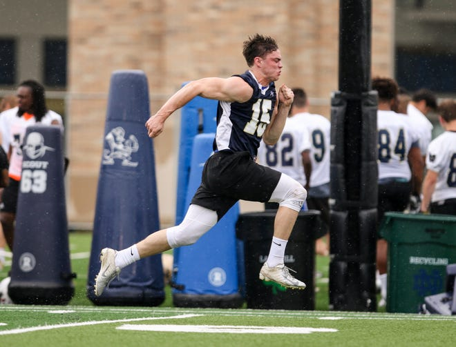 Wide receiver Jay Brunelle earned a scholarship offer to Notre Dame following his performance at the Irish Invasion camp on June 9, 2019.