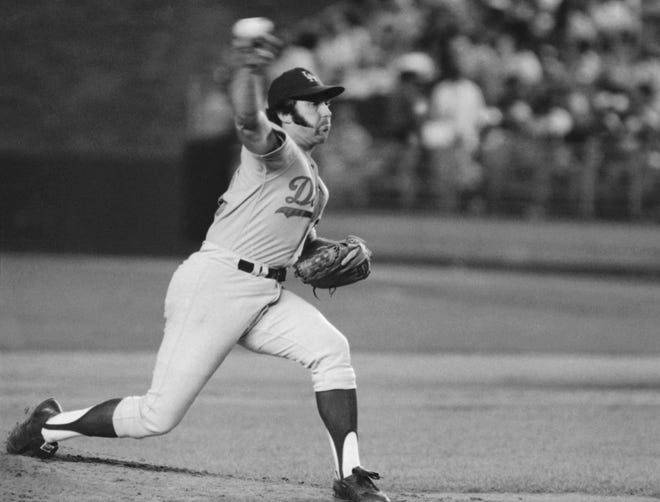 Mike Marshall, shown in this 1974 photo with the Los Angeles Dodgers, played part of the 1970 season with the Oklahoma City 89ers. He was the first relief pitcher to win the Cy Young Award. Marshall died recently at age 78.