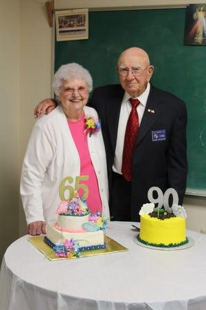 66 years: Mertelene and Joe Zawisza, of Harrah, were married June 18, 1955, in Midwest City.