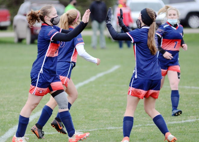 The Boyne City girls' soccer team is moving on to a regional championship game after a 2-0 win over Grand Rapids West Catholic Tuesday.