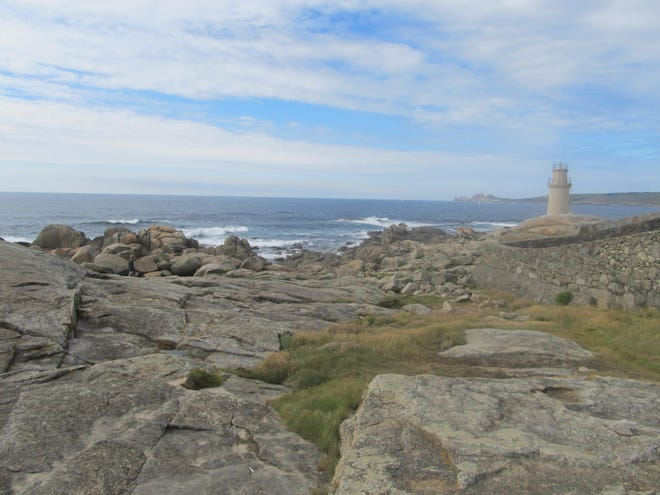 The view of Galicia's coastline, not far from Cape Finisterra that in the pre-Columbus era was believed to be the end of the world.