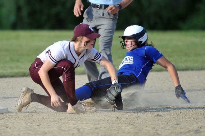 Maddie Zancan (right) and the Cumberland softball team beat Chariho Tuesday to earn a rematch against La Salle in the D-I playoffs. The Clippers lost to the Rams last week in the final week of the regular season.
