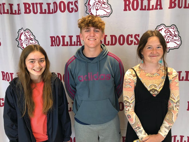 Pictured left to right are Rolla High School scholarship winners Mallory Moats, Simon Yoakum and Isabella Staley.