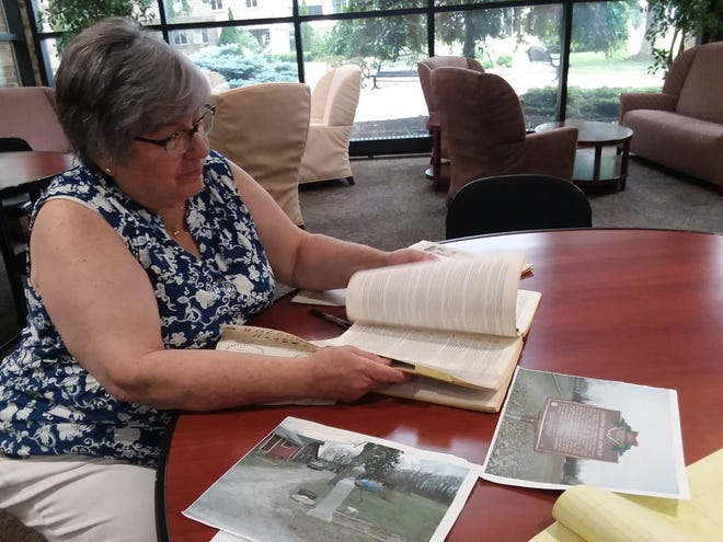Christine Smith Streb, a native of Canal Fulton, is a direct descendant of Amos Holloway, a Quaker who laid out the village of Lexington in 1807. Because of the Quakers' religious beliefs, Lexington, now a township, was also a haven for former and runaway slaves.